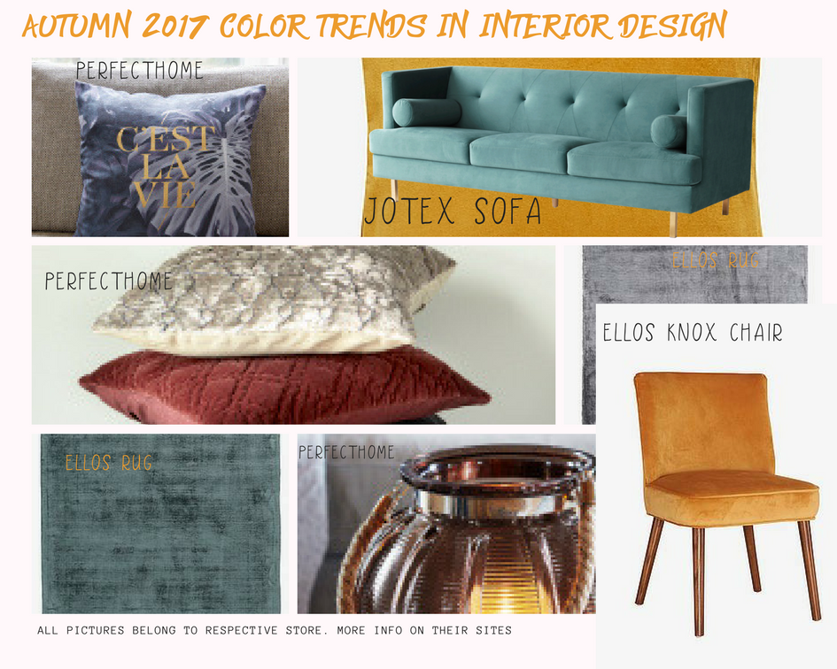 Autumn 2017 Color Trends In Interior